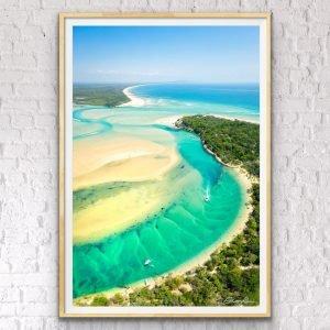 noosa river drone photo