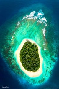 tropical aerial drone photography