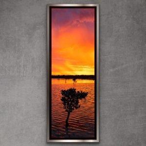 stormy sunet south australia framed print